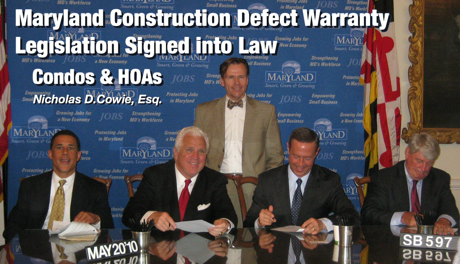 Nicholas D. Cowie drafted construction defect warranty reform legislation that closes loophole and extend warranties for Condominiums and Homeowner Associations