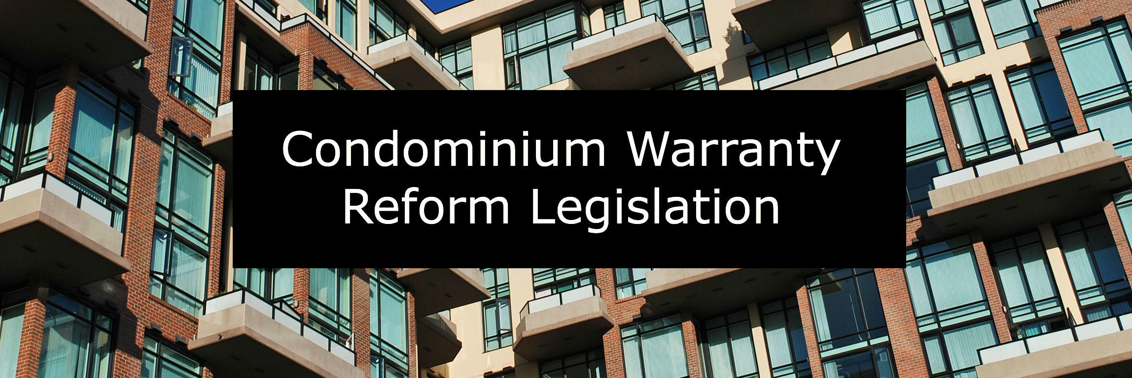 Condominium Warranty Reform Legislation Maryland needed to adress Unfair Practices used by Developers and Builders to avoid Warranty Responsibility for Construction Defects in Newly Constructed Condominiums