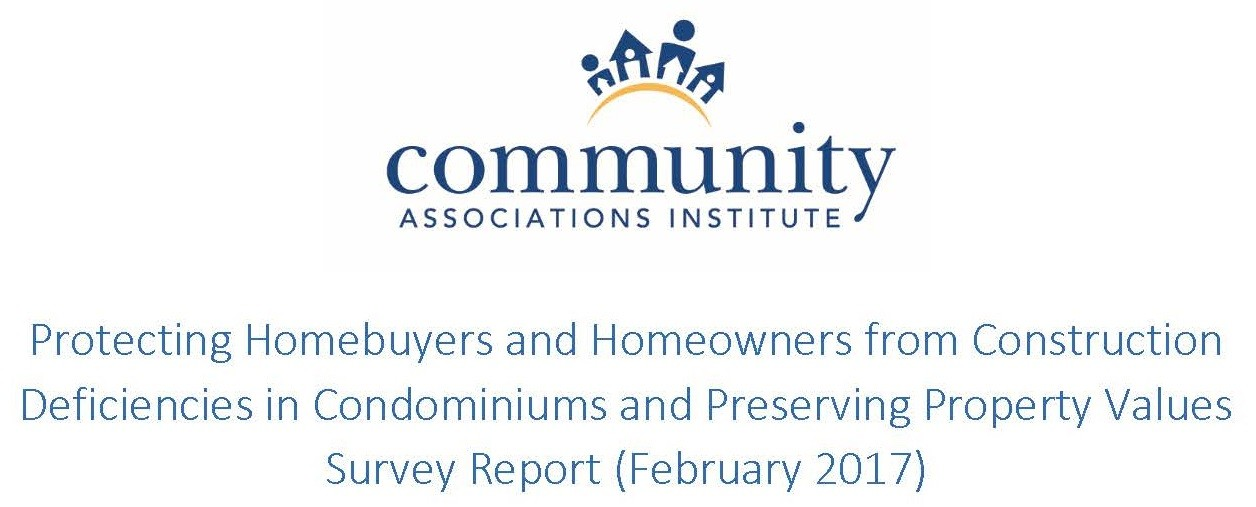 Construction Defects Report by Community Associations Institute
